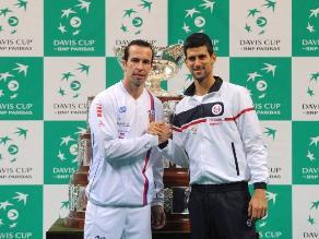 Serbio Djokovic y checo Stepanek abrirán la final de la Copa Davis