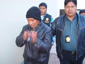 Puno: Dictan prisión preventiva a presunto asaltante capturado en Sandia