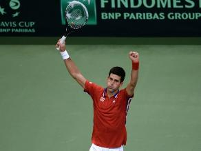Copa Davis: Djokovic pone 1-0 a Serbia sobre República Checa en la final