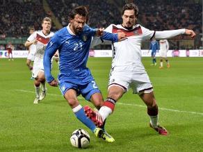 Italia y Alemania empatan 1-1 en duelo amistoso en Giuseppe Meazza