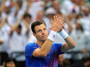 Copa Davis: Berdych gana e iguala 1-1 la final Serbia-República Checa
