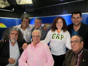 Manuelcha Prado visita la cabina de Los Chistosos