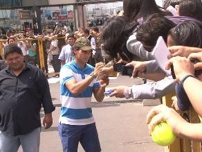 Mira el alboroto que generó el arribo a Lima del tenita Rafael Nadal