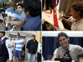 Así fue el primer día de Rafael Nadal en Lima previo al duelo con Ferrer