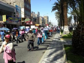 Áncash: 600 profesores protestaron por suspensión de evaluación