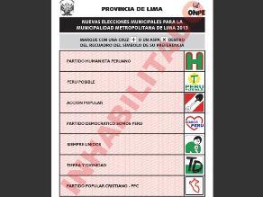 Entra aquí y conoce a los candidatos a regidores de Lima