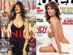 Toda la sensualidad de Cindy Crawford en portadas de revistas