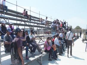 Retiran toldos de tribunas para evitar incidentes en Bolivarianos