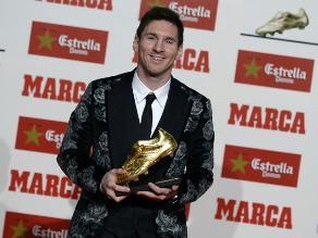 Lionel Messi y su premiación con la Bota de Oro en imágenes