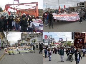 Huancayo: Tres detenidos en protestas de colegio Santa Isabel