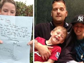 Carta de niño por Navidad causa solidaridad hacia su padre con cáncer