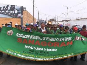 Pobladores de Sanagorán reclaman en Trujillo viabilidad de carretera