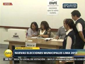 Mesa donde votará Ollanta Humala ya está instalada