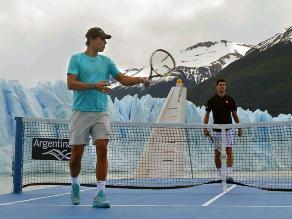 Una exhibición de tenis muy peculiar protagonizaron Nadal y Djokovik