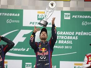 Sebastian Vettel triunfó en Interlagos e igualó récord de Schumacher