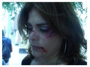 Giovanna Valcárcel apoya campaña contra el abuso a la mujer