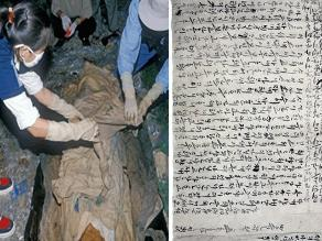 Encuentran amorosa carta de mujer coreana junto a momia de 500 años