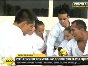 Vea al equipo peruano de kata en acción tras ganar oro en Bolivarianos