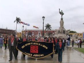 Magistrados y jueces de La Libertad realizan jornada de protesta