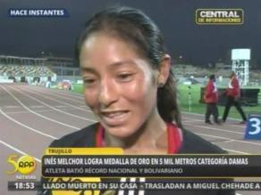 Inés Melchor contenta por batir récord nacional y en Juegos Bolivarianos