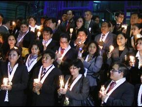 Trujillo: fiscales exigen con vigilia la homologación de sus sueldos