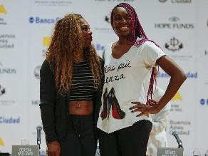 Serena y Venus Williams en Argentina para partido de exhibición