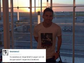 Lionel Messi se encuentra en Argentina para continuar con recuperación