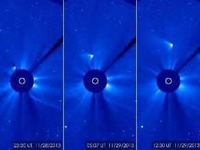El cometa Ison sobrevivió a su vuelo suicida, indica la NASA