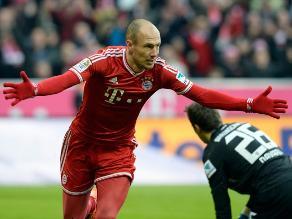 Arjen Robben le da triunfo al Bayern Munich sobre el Braunschweig