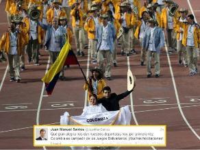 Santos felicita a deportistas colombianos por ganar los Bolivarianos