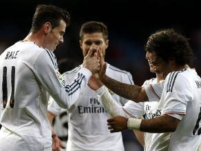 Real Madrid goleó a Valladolid con triplete de Gareth Bale en la Liga