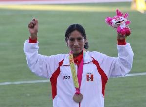 Gladys Tejeda obtiene oro para Perú en la media maratón de Bolivarianos