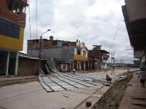 Ucayali: Un muerto y 180 viviendas sin techos dejaron fuertes vientos
