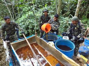 Huánuco: nuevo operativo antidrogas destruye dos laboratorios de PBC