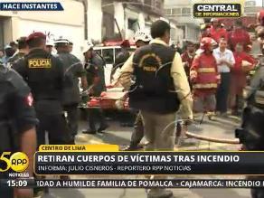 Dos muertos deja incendio en solar del Centro de Lima