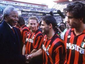 Ídolo del AC Milan destaca a quien fue en vida Nelson Mandela