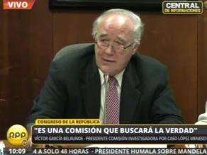 Víctor Andrés García Belaunde: Buscaremos la verdad, caiga quien caiga
