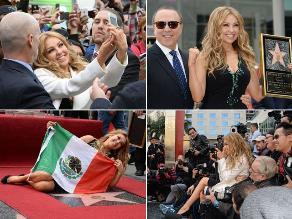 Thalía recibe estrella en el Paseo de la Fama de Hollywood