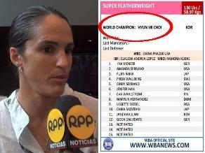 Kina Malpartida ya no aparece como campeona mundial de la AMB