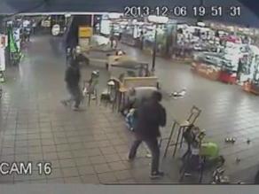 Difunden nuevas imágenes de asalto armado en Polvos Azules