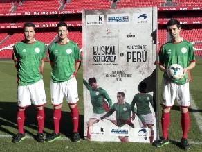 Selección vasca presentó en San Mamés el amistoso contra Perú