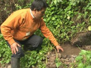 Jhonny Gamarra promueve el uso del agua para cultivos agrícolas