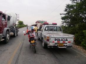 Quillabamba: vehículo de la Policía Nacional choca contra puente