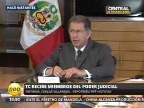 Mendoza y Figallo se reúnen en sede del TC