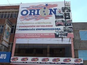 Huancayo: Disponen inhabilitación de director y clausura de I.E. Orión