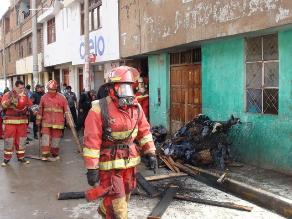 Bomberos cajamarquinos continúan en emergencia