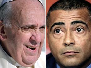 Romario invita al papa Francisco a debatir en el Congreso sobre fútbol