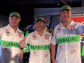 Francisco León, López e Hiraoka listos para competir en Rally Dakar