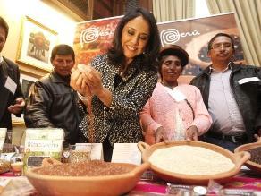 Primera Dama insta a consumir quinua y dejar la chatarra