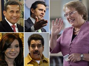Presidentes latinoamericanos felicitan a presidenta chilena Bachelet